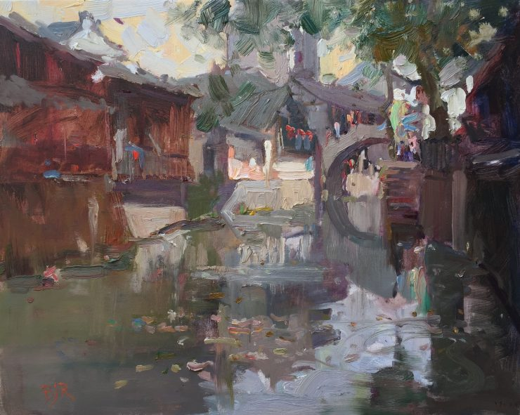 Painting in an ancient Chinese village 7