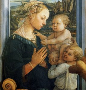 Madonna with Child and Two Angels, by Fra Filippo Lippi 56