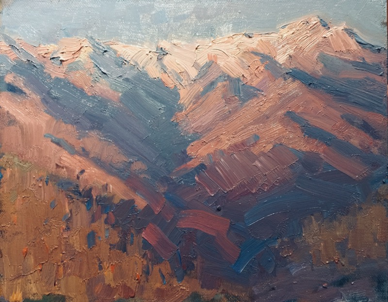 Cat. No. 1364 Appenine Evening From Baccana Village - 30cm x 40cm - Oil on Canvas