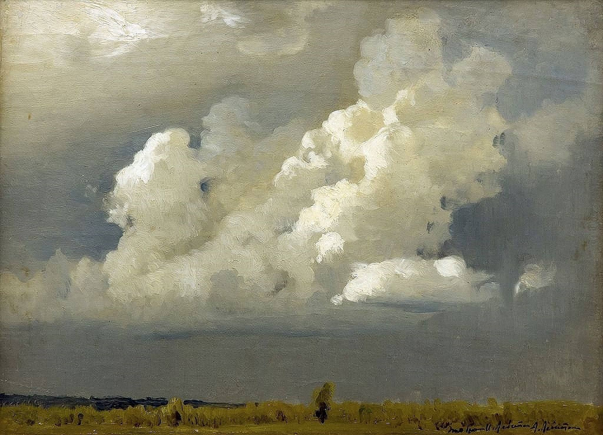 Before the Storm The Cloud by Isaac Levitan